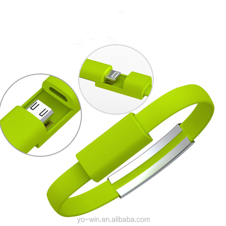 Bracelet cable with micro USB for smartphones and tablets