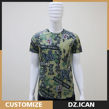 Men Short Sleeve Fashion Wholesale Graphic Green Oversized T-Shirts