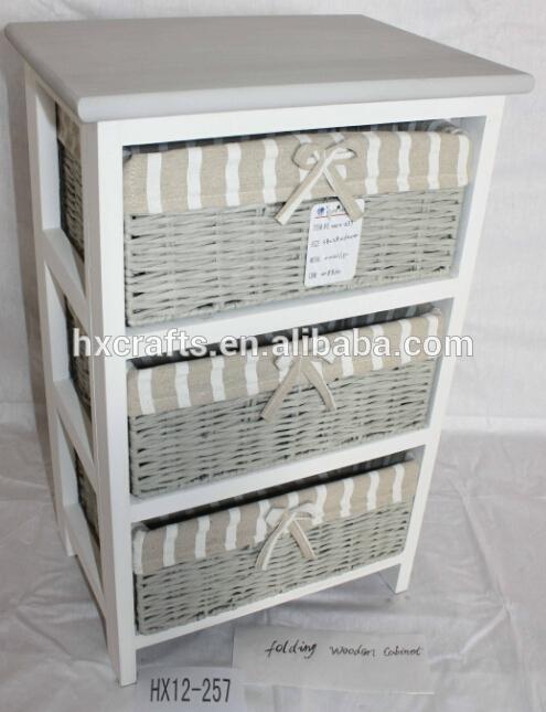 Polyvalent meuble de salle de bain rangement 3 osier rotin tiroirs ...
