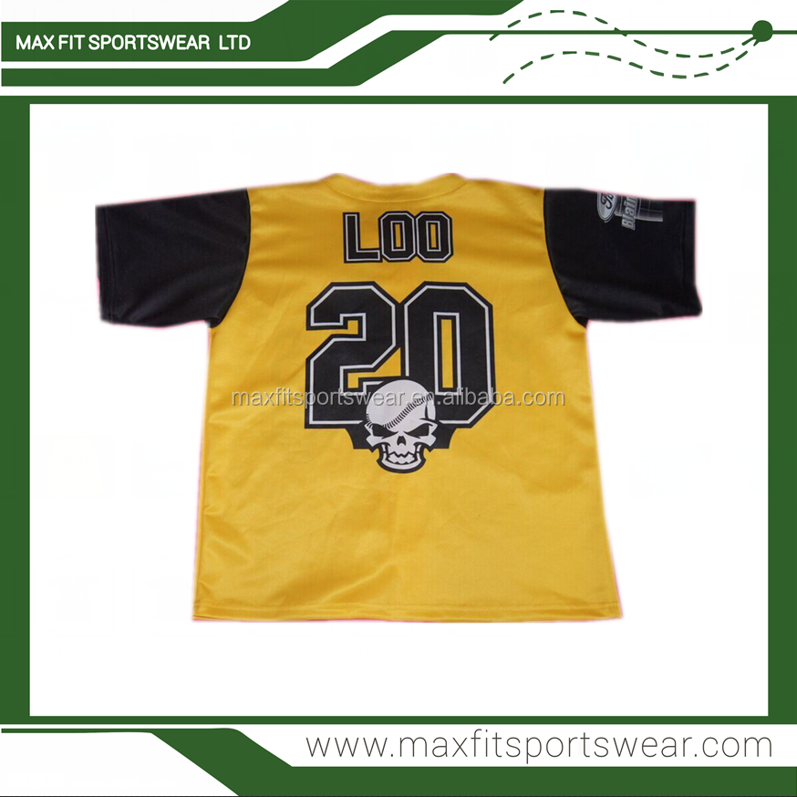 Cheap custom design sublimation printing team wholesale baseball jersey