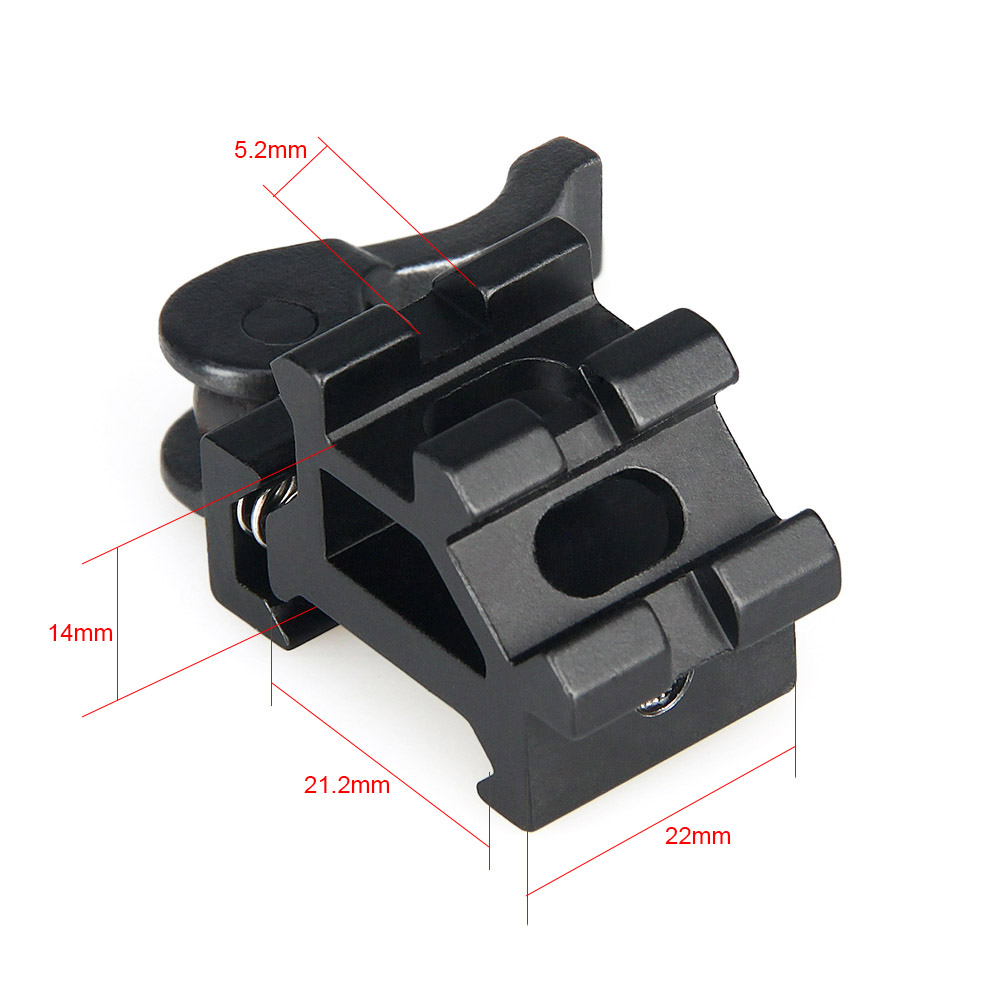 Double Scope Rings 20mm Picatinny Weaver Rail Tactical One Piece Scope Mount With Triple Rails Cover