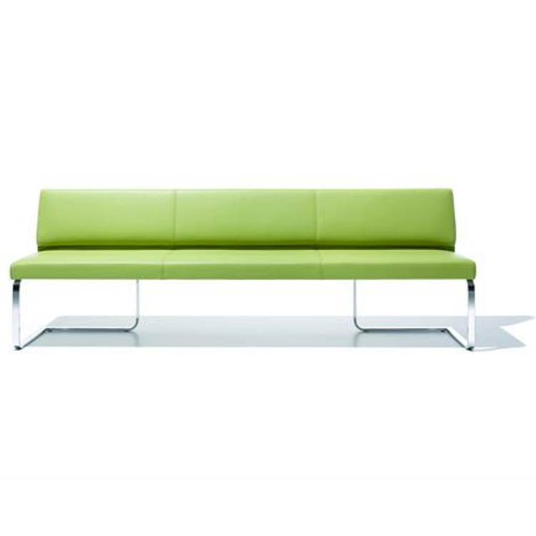 Good Quality Leather Sofa Bench Design with Metal Leg