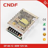 CNDF Ac power to DC power supply 60W 12V electric power source 12V 5A