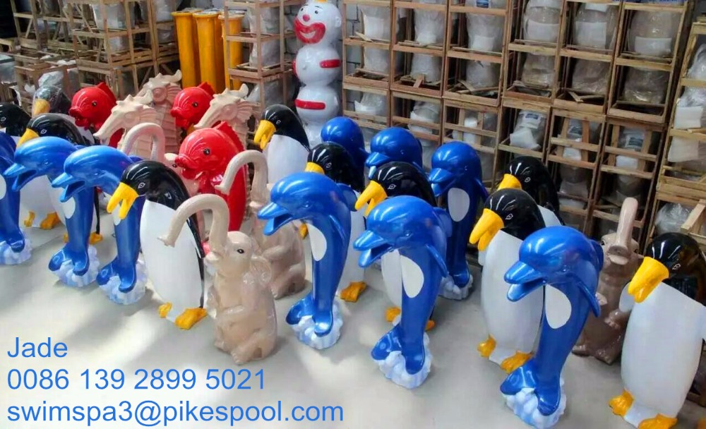 fiberglass swimming pool lovely animal water fountain/Fountain jet/dolphin water fountain