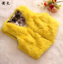 Supper deal 100% genuine rabbit fur vest waistcoat women sleeveless fur coat outerwear for autumn and winter free shipping
