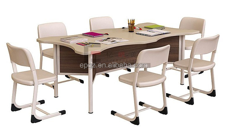 Modern Library Furniture Children Study Chairs Tables