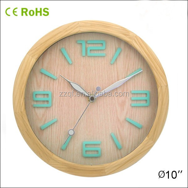 Innovative Corporate Gifts Luminous Wall Clock With Wood Frame (10W50NA Y2)