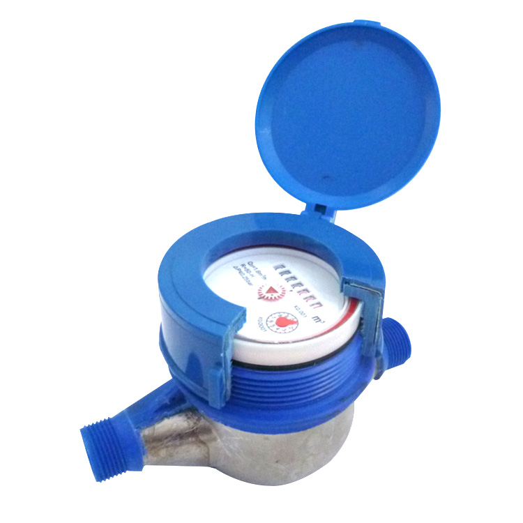 SNI standard multi-jet dry type pulse output digital nylon plastic mechanical cold water flow meter with iron plate