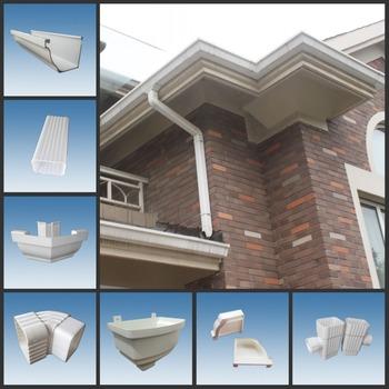 UPVC Rain Gutter System 65 Degree Flow Diverter Valve For House Water  Draining