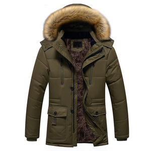 Western Winter Man Coat Fashion Thicken Men's Padded Jacket Parka