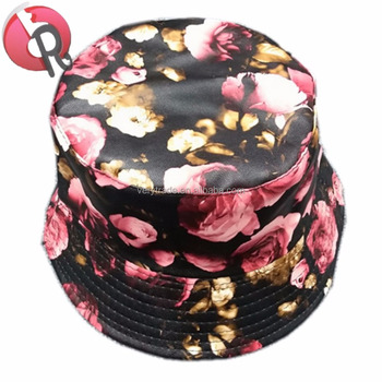 PU printed pattern waterproof fashion Women ladies folding rain hat sun hat e7c49a391366
