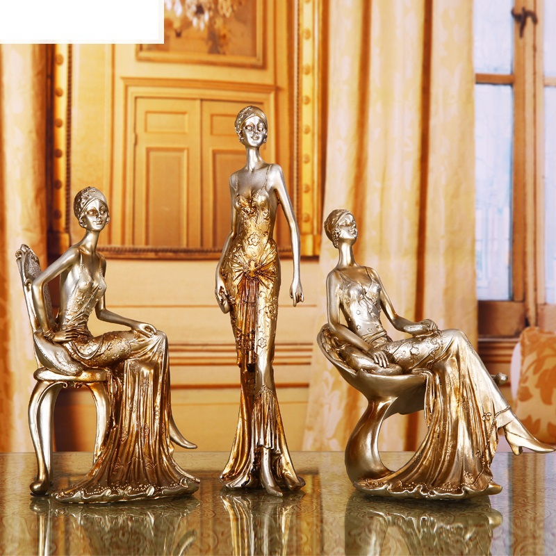 EC DAILY  European resin sculpture art Decoration living room furnishings fashion creative home decorations modern minimalist  F