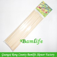 Top quality promotional bamboo soak skewer stick with brand