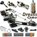 Dream Camo 20 70lbs adjustable Black and Camouflage hunting compound bow bow and arrow China Archery