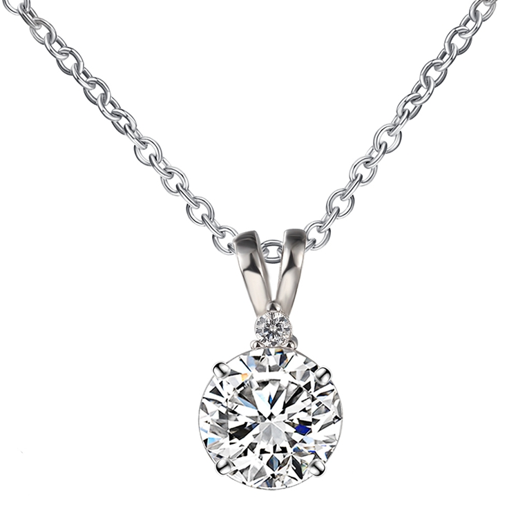 Single big stone pendant fake diamond necklace buy diamond single big stone pendant fake diamond necklace mozeypictures Image collections