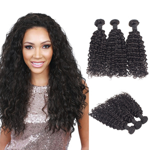 Lots of Supply Morein 100% Indian Temple Deep Curly Natural Human Hair Weave Bundles