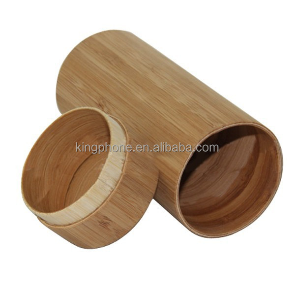 Cylinder wooden box for sunglasses, unique design sunglasses packaging boxes