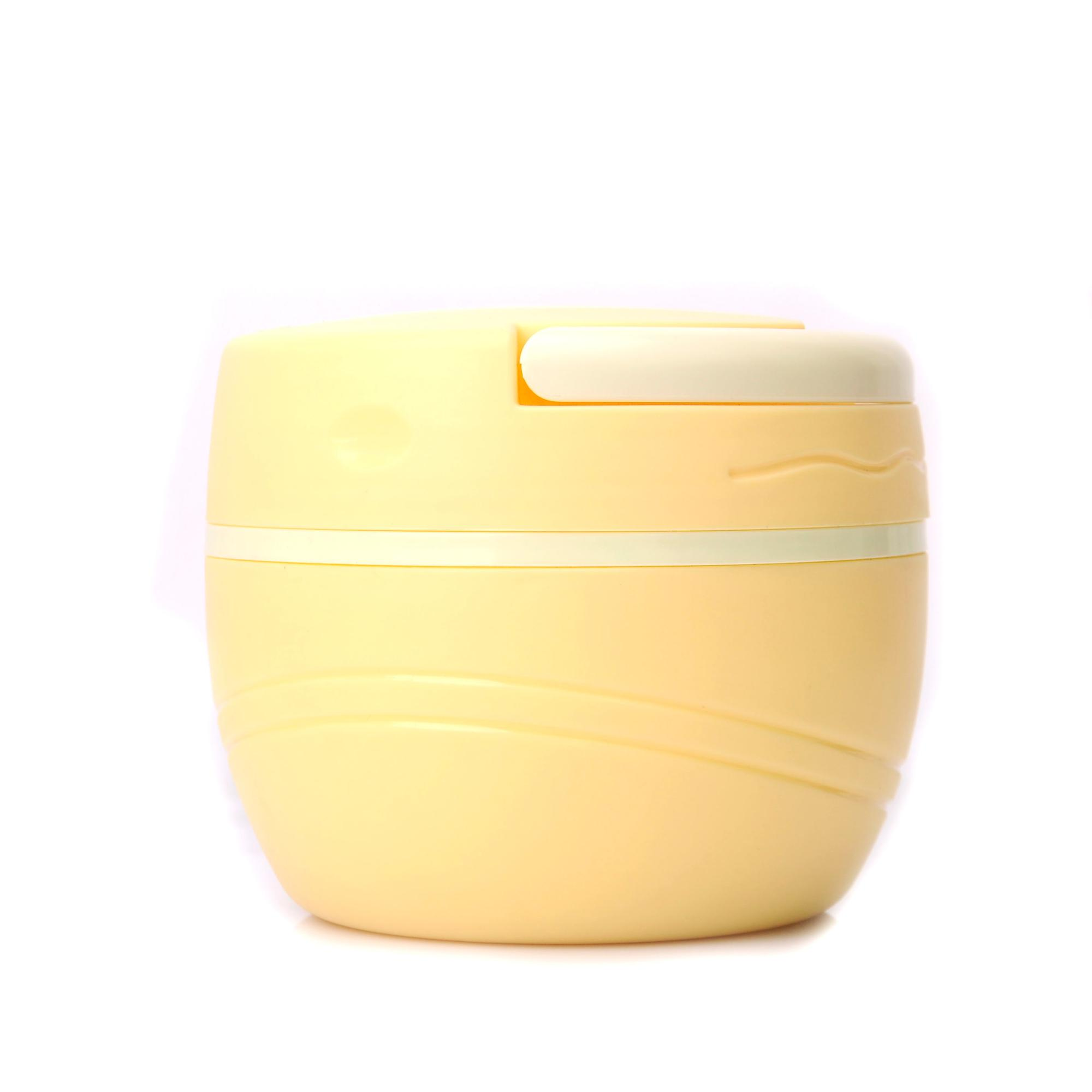 Easy take away plastic lunch box with handle with two layers