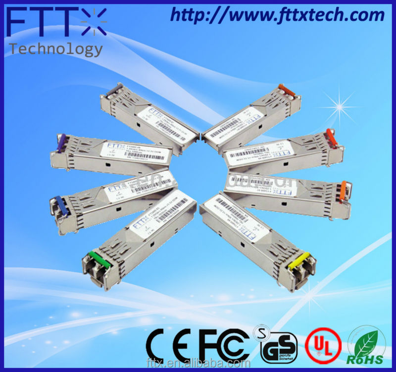 hot selling Fiber Optic sfp-10g-sr 1270/1330nm single LC BiDi DFB fiber optic module