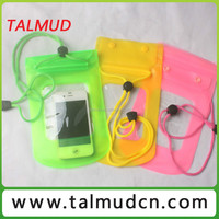 Promotional colorful mobile phone waterproof bag