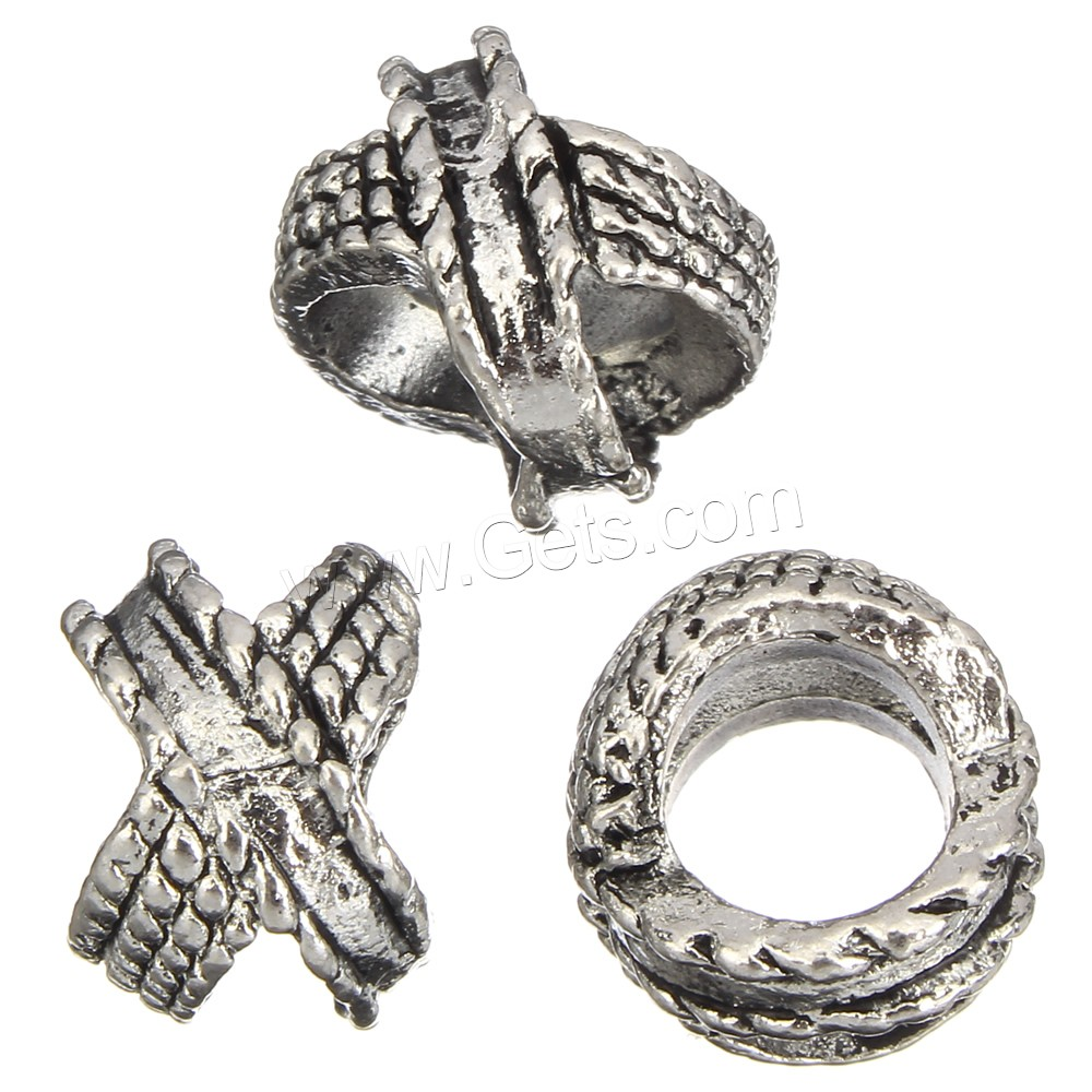 Wholesale fashion antique silver color zinc alloy sliding charms