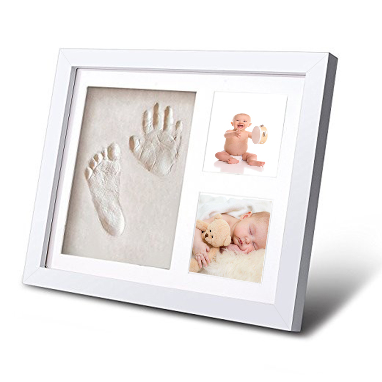 Hot Sale Baby Footprint boy and girl photo frame Baby Photo Album For Home Decor
