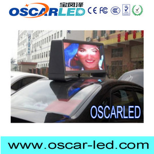 2016 NEW taxi top led display with bluetooth board 12volt led car message sign