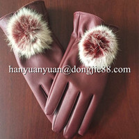with decoration golf winter motorcycle gloves women leather gloves
