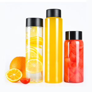 BPA free 400ml 500ml plastic pet food grade disposable clear fruit juice bottle