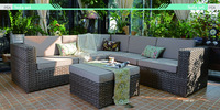 2017 modern outdoor patio furniture sofa sectional couch set.