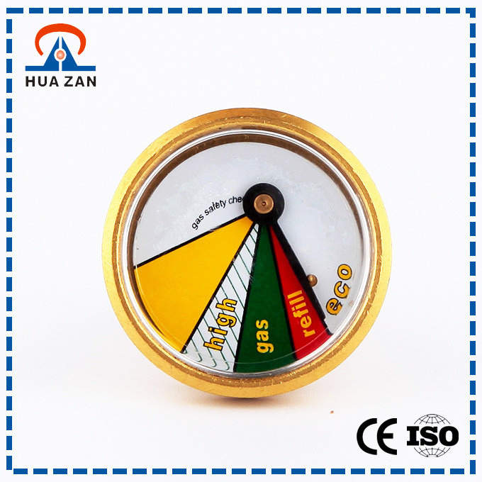 Factory direct supply gas pressure gauge with brass cover