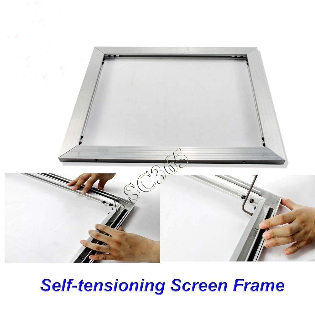 New Self-tensioning Screen Frame Aluminum Material without Glue Stretch ANY Size DIY(Item#219304)