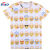 New design flat knit stripe digital printing tees women t-shirt