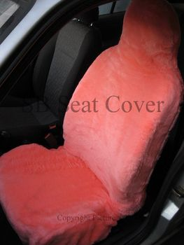 Baby Pink Faux Fur Car Seat Covers