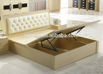 Hot Sale Used Bedroom Plywood Double Bed Designs - Buy Plywood ...