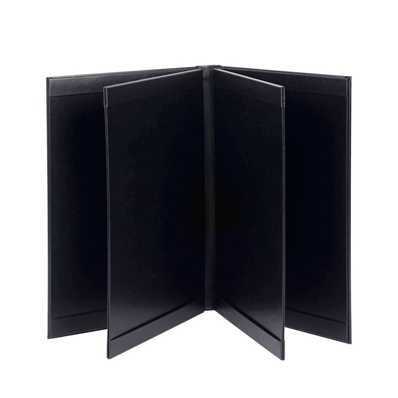 Durable Leather menu covers for hotels Eco-friendly restaurant leather menu covers