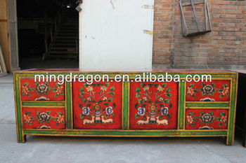 Chinese antique reproduction furniture tibetan tv cabinet for Oriental reproduction furniture