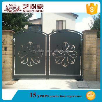 Yishujia Factory Iron Fancy Gates Simple Iron Main Gate Designs