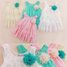 Meninas Do Bebê infantis Rendas Roupas Vestidos de Crianças Para O Verão Crianças Princesa Flor Tutu Vestidos