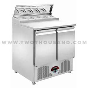 TT-SL900DR2K-S1 Stainless Steel Pizza Food Prep Table Refrigerator