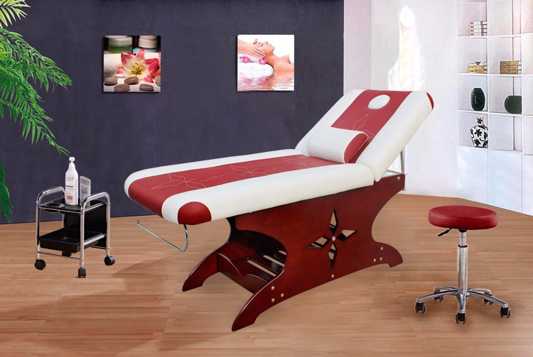 Kangzhimei wholesale spa furniture wood beauty facial bed 8222