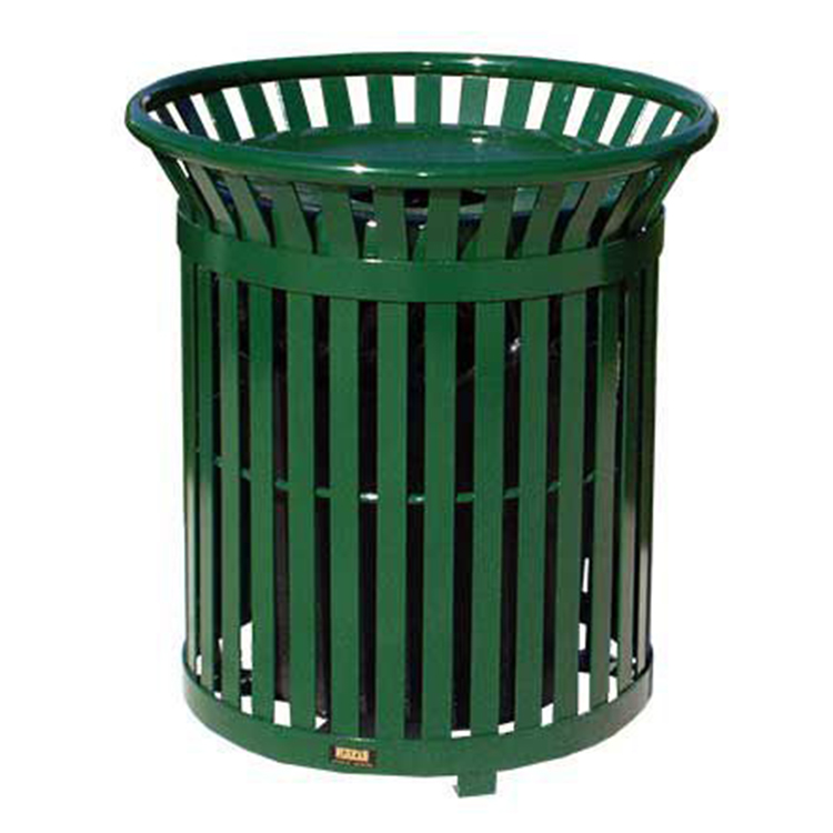 Factory Supplying Cast Iron Outdoor Steel Sorted Trash Can Waste Bin