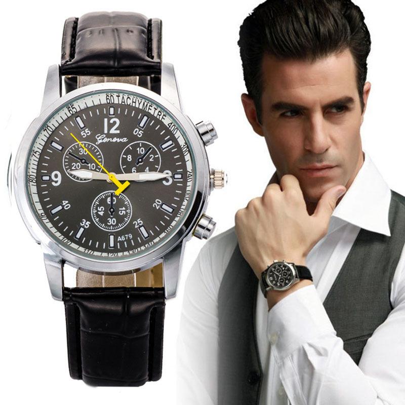 Роскошные искусственной кожи мужская Watch2015 новинка бизнес часы мужчины спортивные часы час мужчины роскошь армии наручные часы