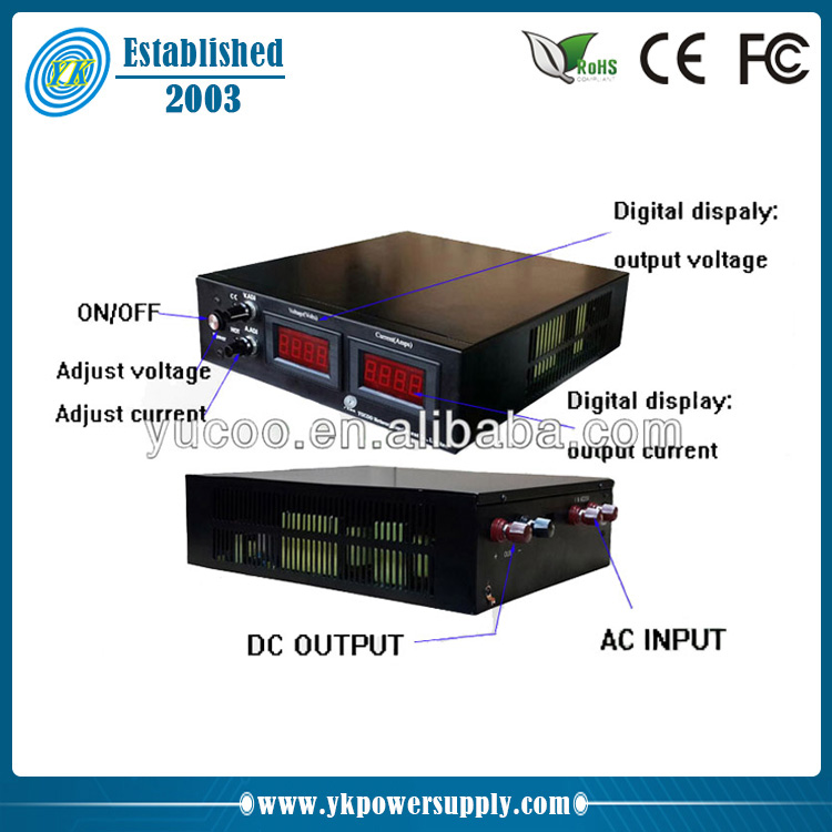 High voltage output 0-1500VDC 0- 1A variable ac dc power supply, View  0-1500VDC 0- 1A variable ac dc power supply, YK Product Details from Yucoo