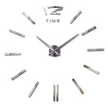 2016 hot sale wall clock large decorative wall clocks home decor diy clocks living room reloj mural wall sticker free shipping
