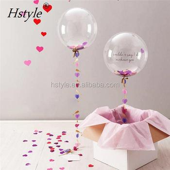 Clear Foil Balloons Transparent Aluminum Balloon Wedding Birthday Party Decorations Balon Globos SBR025