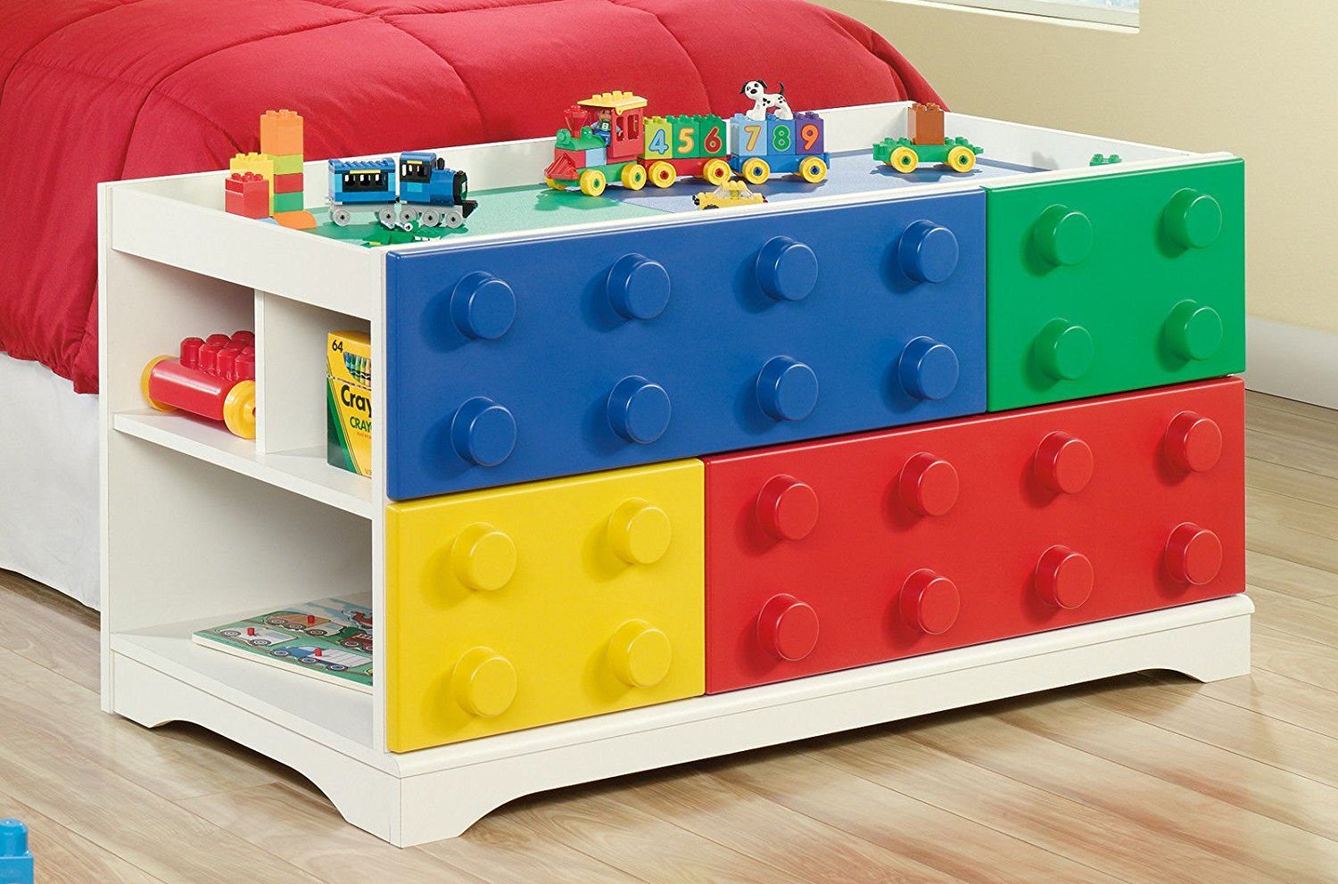 Sauder Furniture 417932 Primary Street Children Kids Toy Block Lego Play Table - Great for Childrens & Buy Sauder Furniture 417932 Primary Street Children Kids Toy Block ...