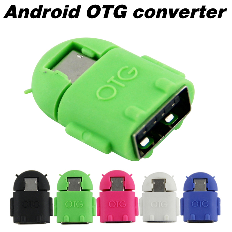 43d108be2eb Android Robot Shape Micro Mini USB OTG Adapter Cable For Tablet PC MP3 MP4  smart Phone