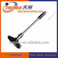 magnetic mount am fm car antenna/1section short fiber mastTLD1240