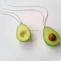 Fashion High quality avocado Necklace Set Jewelry for Best Friend